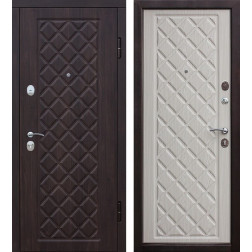Входная металлическая дверь Камелот (Вишня темная / Дуб беленый)