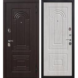 Входная металлическая дверь Флоренция (Темный кипарис / Дуб беленый)