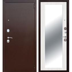 Входная металлическая дверь Царское Зеркало Maxi (Антик Медь / Ясень белый)