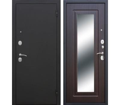 Входная металлическая дверь Царское Зеркало (Черный муар / Венге)