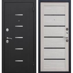 Входная металлическая дверь Гарда 75 (Черный муар / Лиственница мокко)