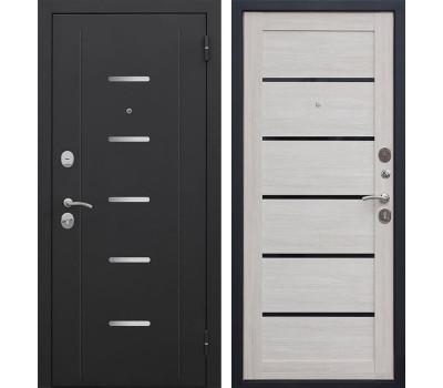 Входная металлическая дверь Гарда (Черный муар / Лиственница мокко)
