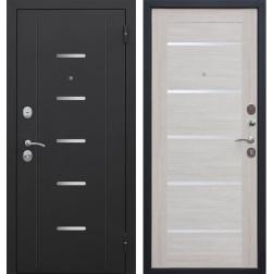 Входная металлическая дверь Гарда 75 (Черный муар / Лиственница беж)