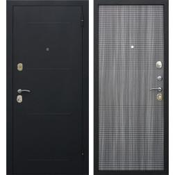 Входная металлическая дверь Гарда 75 (Черный муар / Венге Тобакко)