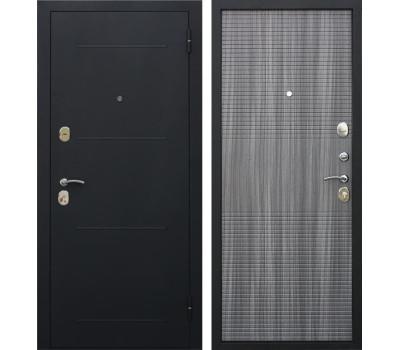 Входная металлическая дверь Гарда (Черный муар / Венге Тобакко)