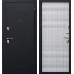 Входная металлическая дверь Гарда 75 (Черный муар / Белый ясень)