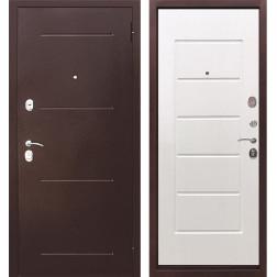 Входная металлическая дверь Гарда 75 (Антик Медь / Ясень белый)