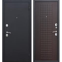 Входная металлическая дверь Гарда 60 (Черный муар / Венге)