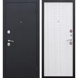 Входная металлическая дверь Гарда 60 (Черный муар / Ясень белый)