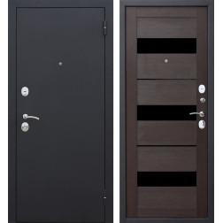 Входная металлическая дверь Гарда Царга 60 (Черный муар / Темный кипарис)