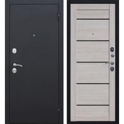 Входная металлическая дверь Гарда Царга 60 (Черный муар / Лиственница мокко)