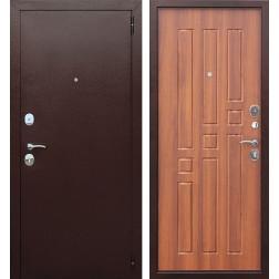 Входная металлическая дверь Гарда 60 (Антик Медь / Рустикальный дуб)