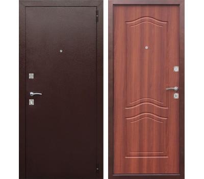 Входная металлическая дверь Доминанта (Антик Медь / Рустикальный дуб)