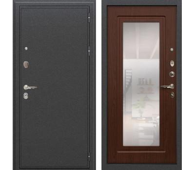 Входная металлическая дверь Лекс Колизей с Зеркалом Береза мореная (панель №30)