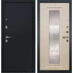 Входная металлическая дверь Лекс 2 Рим с Зеркалом Дуб беленый (панель №23)