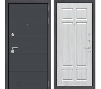 Входная металлическая дверь Лабиринт Арт 8 (Графит софт / Кристалл вуд)