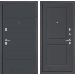 Входная металлическая дверь Лабиринт Арт 11 (Графит софт / Графит софт)