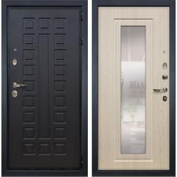 Входная дверь Лекс Гладиатор 3К с Зеркалом Беленый дуб (панель №23)