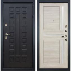 Входная металлическая дверь Лекс Гладиатор 3К Баджио Ясень кремовый (панель №49)
