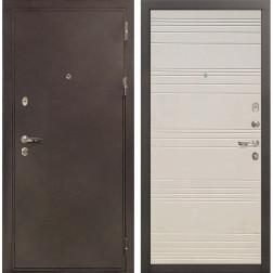 Входная дверь Лекс 5А Цезарь Дуб фактурный кремовый (панель №63)