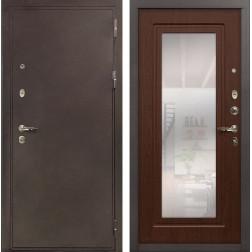 Входная металлическая дверь Лекс 5А Цезарь с Зеркалом Береза мореная (панель №30)