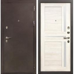 Входная металлическая дверь Лекс 5А Цезарь Баджио Белёный дуб (панель №47)