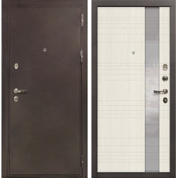 Входная металлическая дверь Лекс 5А Цезарь Новита Беленый дуб (панель №52)