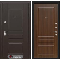 Входная металлическая дверь Лабиринт Мегаполис 3 (Орех бренди)