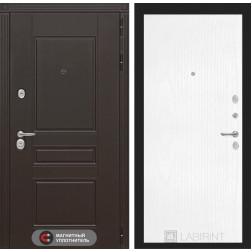 Входная металлическая дверь Лабиринт Мегаполис 7 (Белое дерево)