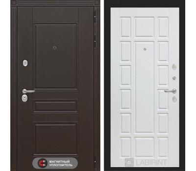 Входная металлическая дверь Лабиринт Мегаполис 12 (Венге / Белое дерево)