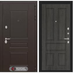 Входная металлическая дверь Лабиринт Мегаполис 10 (Дуб филадельфия графит)