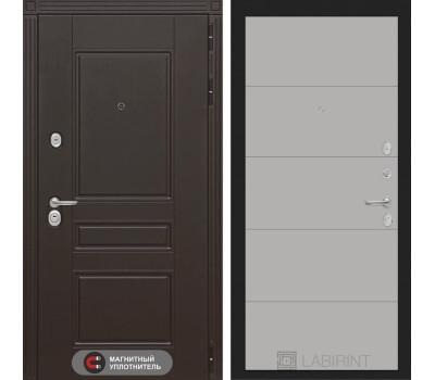 Входная металлическая дверь Лабиринт Мегаполис 13 (Венге / Грей софт)