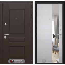 Входная металлическая дверь Лабиринт Мегаполис с Зеркалом (Акация светлая)