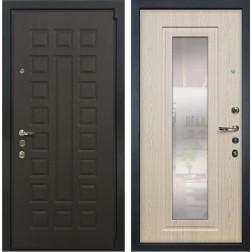 Входная дверь Лекс 4А Неаполь Mottura с Зеркалом Беленый дуб (панель №23)