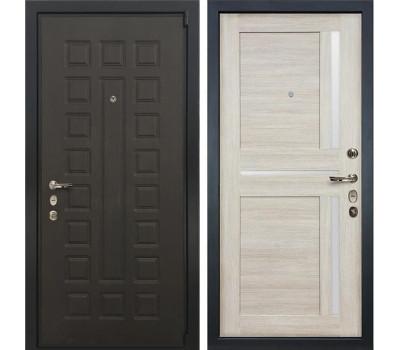Входная металлическая дверь Лекс 4А Неаполь Mottura Баджио Ясень кремовый (панель №49)