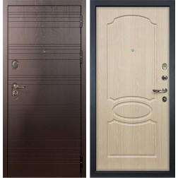 Входная металлическая дверь Лекс Легион Белёный дуб (панель №14)