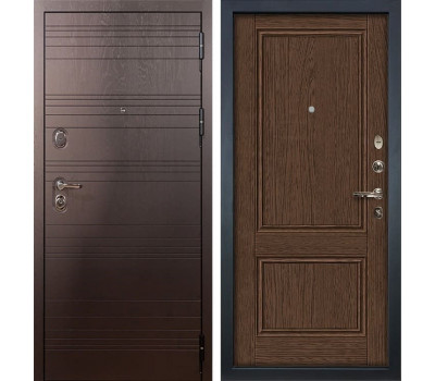 Входная металлическая дверь Лекс Легион Энигма-1 Орех (панель №57)