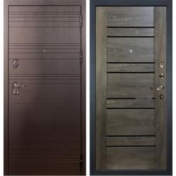 Входная металлическая дверь Лекс Легион Терра Графит Шале (панель №64)