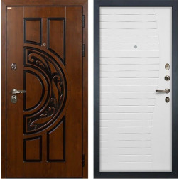 Входная металлическая дверь Лекс Спартак Cisa Ясень белый (панель №36)