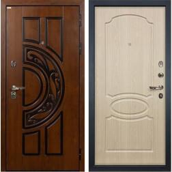 Входная металлическая дверь Лекс Спартак Cisa Белёный дуб (панель №14)