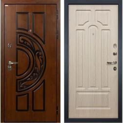 Входная металлическая дверь Лекс Спартак Cisa Белёный дуб (панель №25)