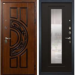 Входная металлическая дверь Лекс Спартак Cisa с Зеркалом Венге (панель №22)