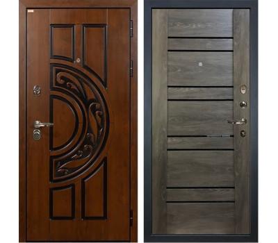 Входная металлическая дверь Лекс Спартак Cisa Терра Графит Шале (панель №64)