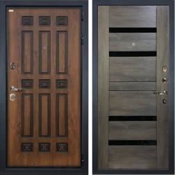 Входная дверь Лекс Гладиатор 3К Винорит Неро Графит Шале (панель №65)