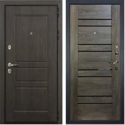 Входная стальная дверь Лекс Сенатор Винорит Терра Графит Шале (панель №64)