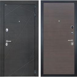 Входная дверь Интекрон Сенатор Лучи (Венге распил кофе / ЭкоВенге)