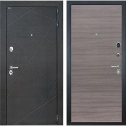 Входная дверь Интекрон Сенатор Лучи (Венге распил кофе / Дуб Тоскано)
