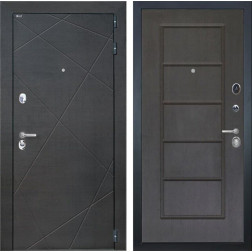 Входная дверь Интекрон Сенатор Лучи ФЛ-39 (Венге распил кофе / Орех премиум)