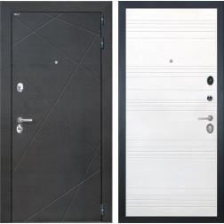 Входная дверь Интекрон Сенатор Лучи ФЛ-316 (Венге распил кофе / Ясень белый)