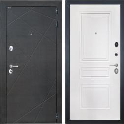 Входная дверь Интекрон Сенатор Лучи ФЛ-243-М (Венге распил кофе / Белая матовая)